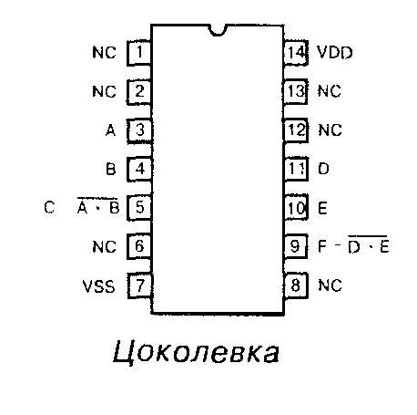Микросхема 40107 - цоколёвка