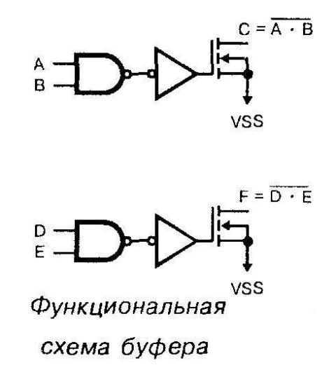 Микросхема 40107 - функциональная схема буфера