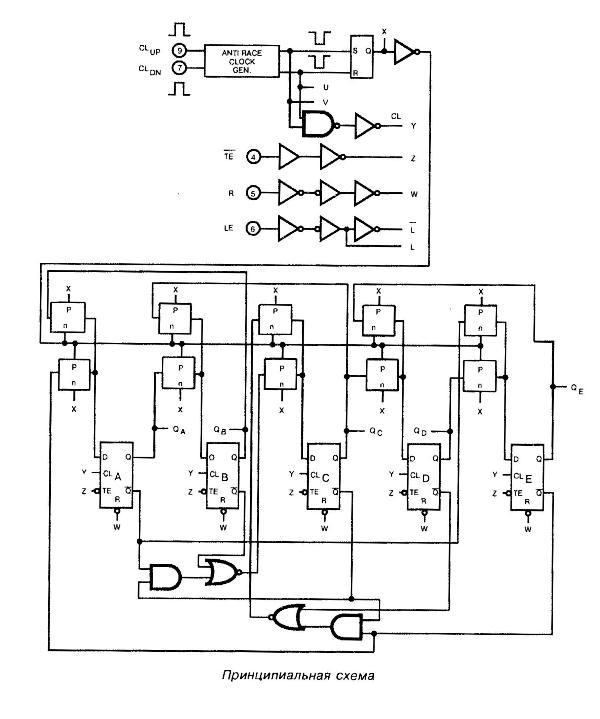 Микросхема 40110 - принципиальная схема