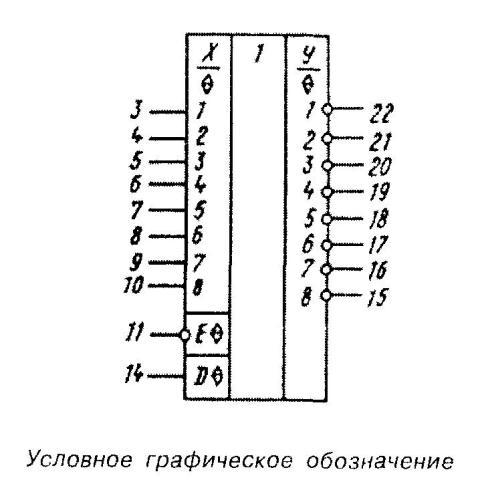 Микросхема 40116 - условное графическое изображение
