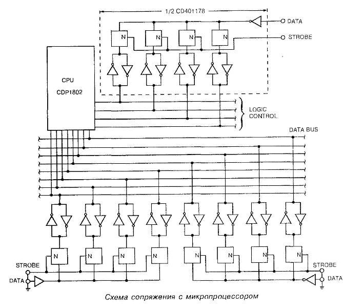 Микросхема 40117 - структурная схема