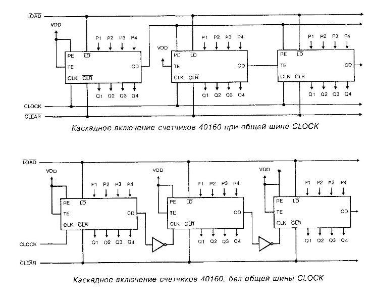 Микросхема 40160 - каскадное