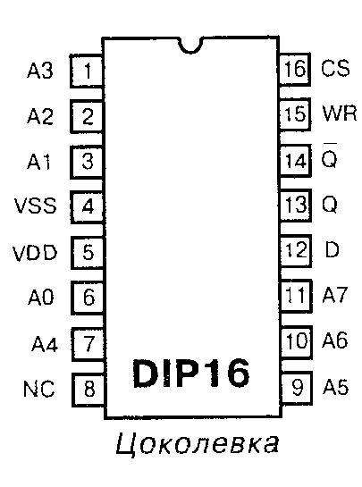 Микросхема 40163 - цоколёвка