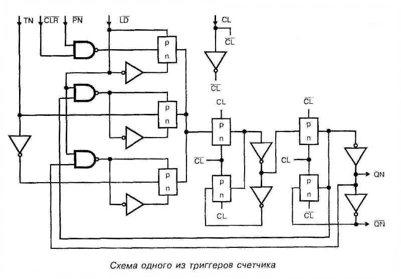Микросхема 40163 - схема одного из триггеров счётчика