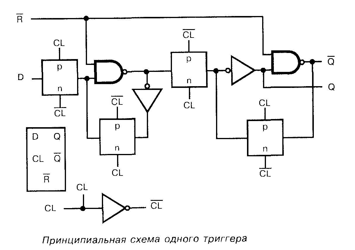 Микросхема 4026 принципиальная схема одного триггера