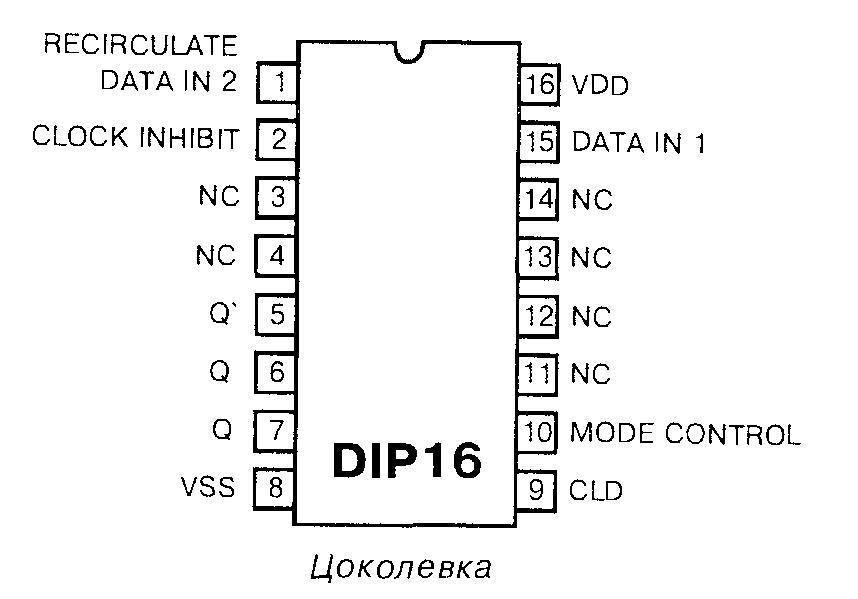 Микросхема 4031 - цоколёвка