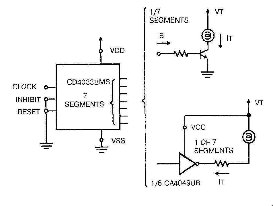 Микросхема 4033 - подключение ламп накаливания