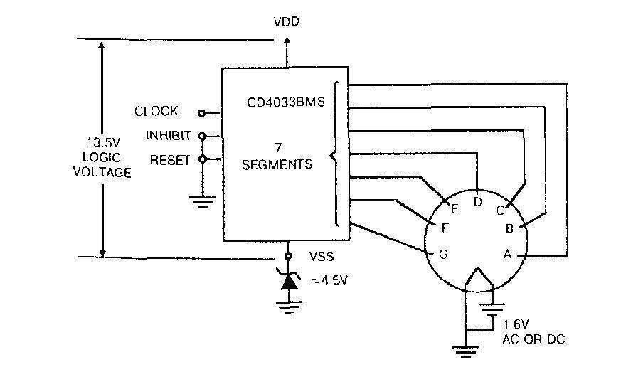 Микросхема 4033 - подключение ламповых флуоресцентных индикаторов