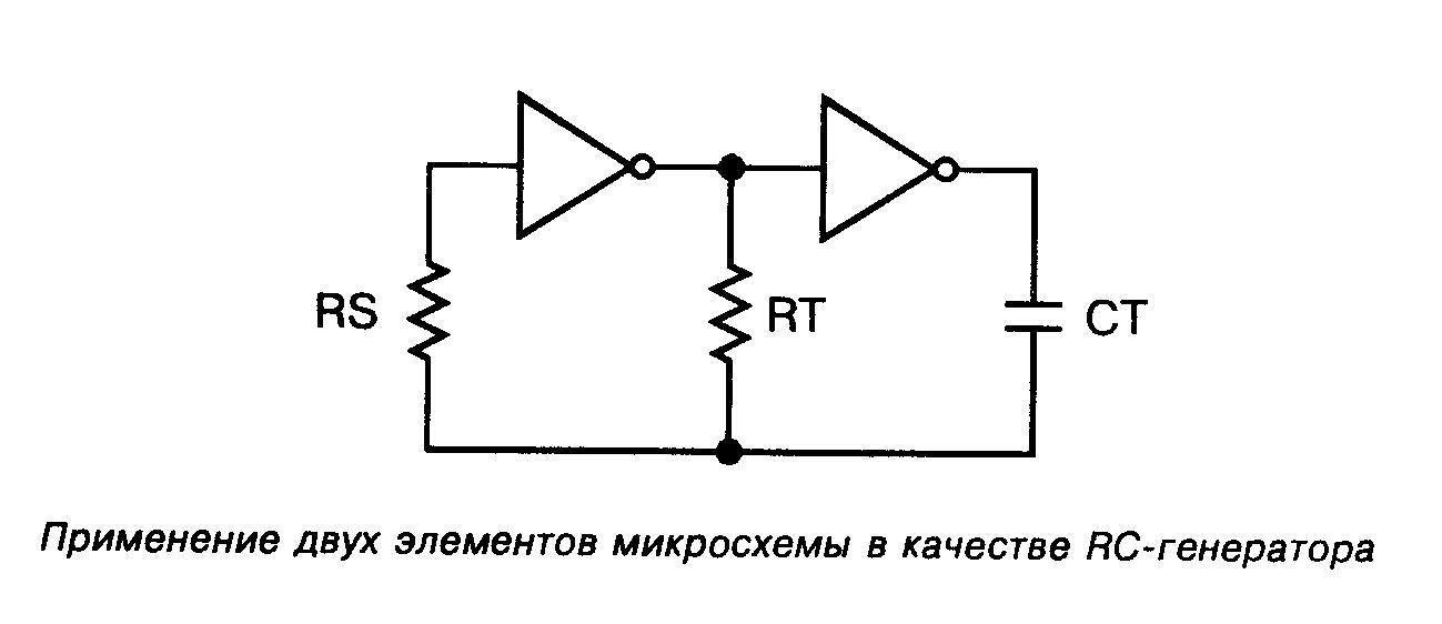 Микросхема 4069 - применение двух элементов микросхемы в качестве RC генератора