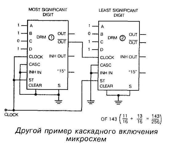 Каскадное включение микросхемы 4089