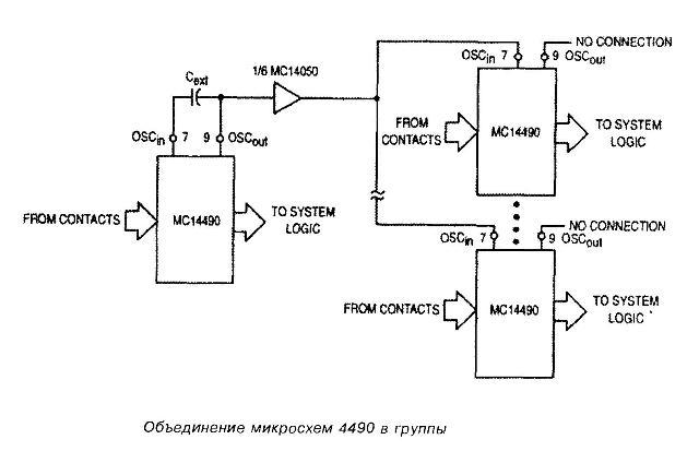 Микросхема 4490 - объединение в группы