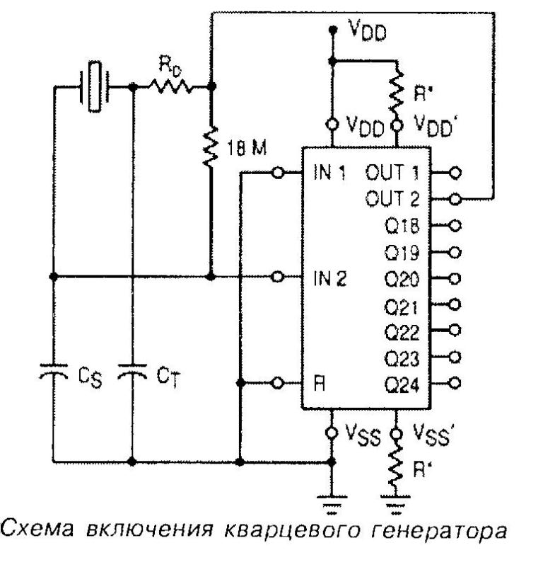 Микросхема 4521 - схема