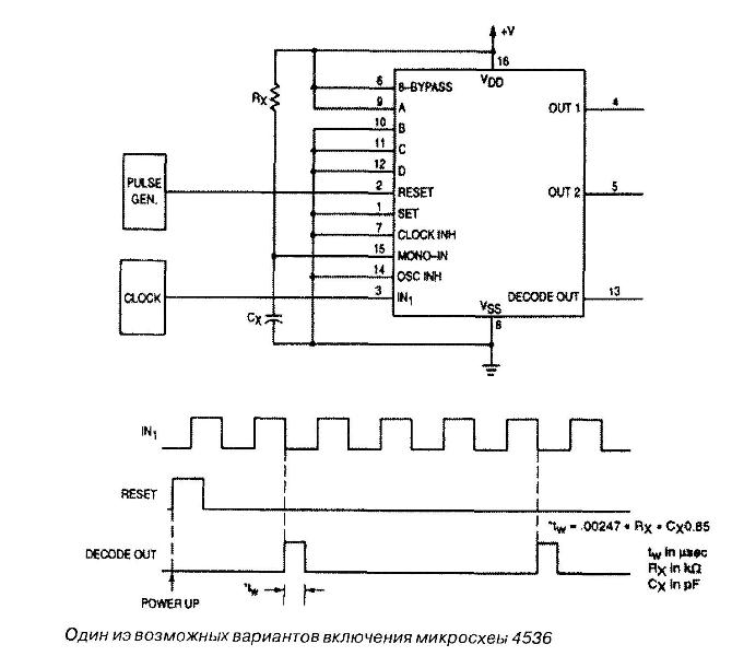 Микросхема 4536 - один из