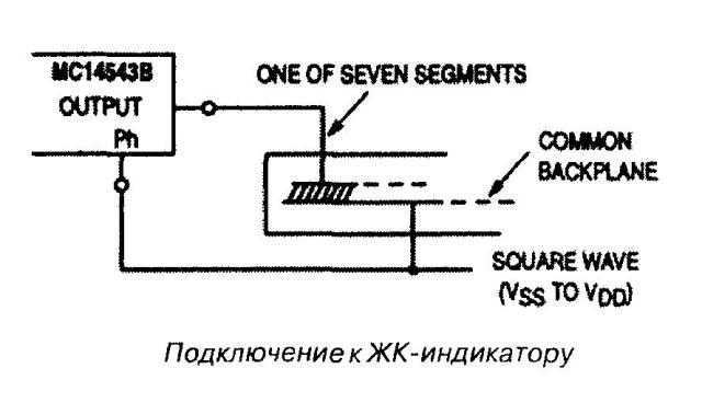 Микросхема 4543 - подключение к ЖК-индикатору