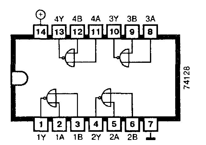 Микросхема 74128 - четыре 50-омных буферных формирователя