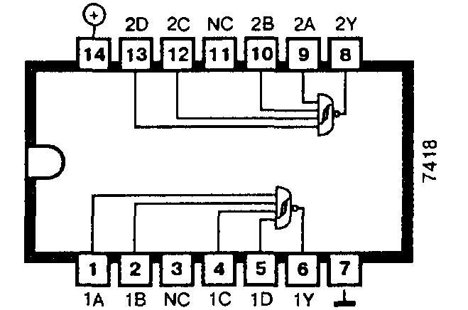 Микросхема: 74LS18  (7418)