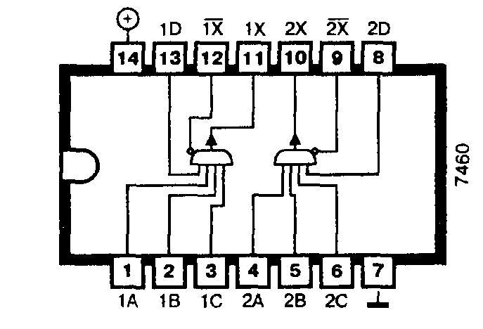 Микросхема 7460 (74H60) - два расширителя с четырьмя входами каждый