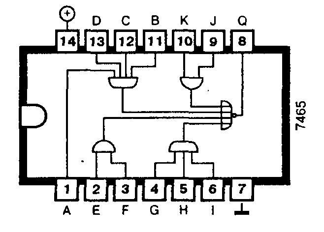 Микросхема 7465 (74S65) - логические элементы
